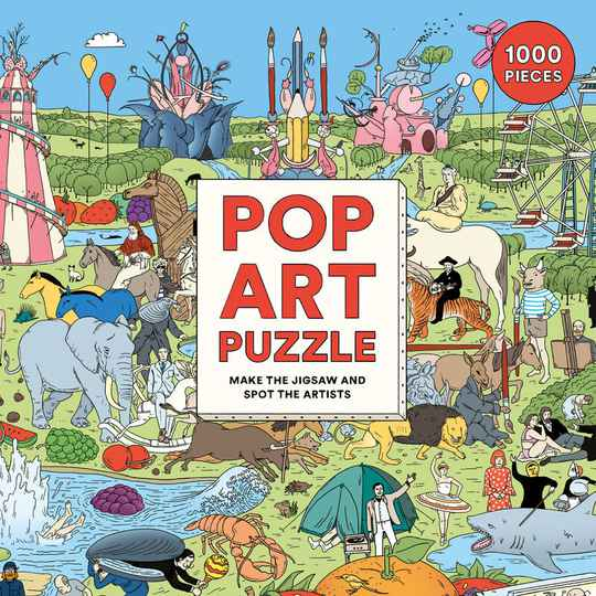 Pop Art Puzzle - make the jigsaw and spot the artists