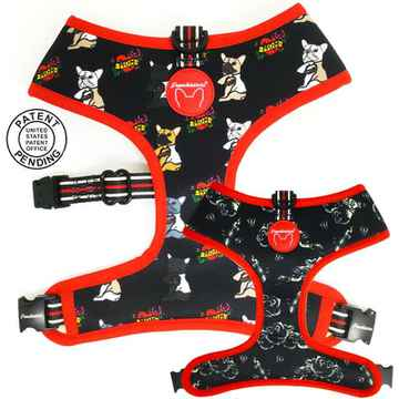 Frenchiestore Reversible Tuigje 'Puppy Love'