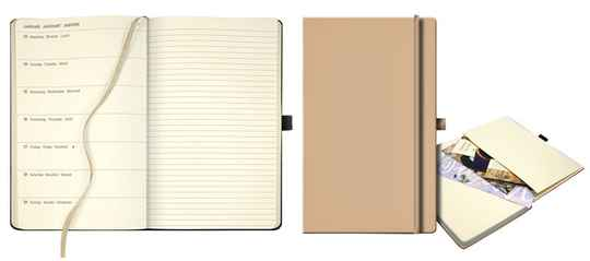 Agenda 2021 Ivory Collection A5, nude