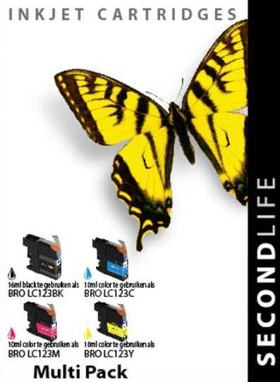Cartridge SecondLife Brother LC 121 / 123 multipack
