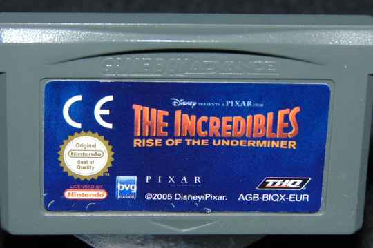 The Incredibles rise of the Underminer / EUR. / GBA