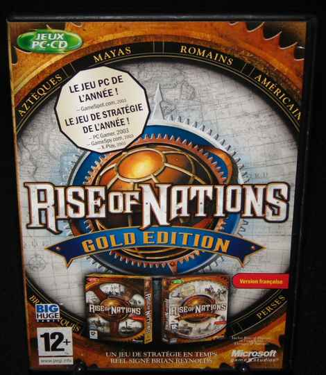 """Rise of Nations """"Gold"""" / Jeu PC / Complet / Fr. MINT!"""