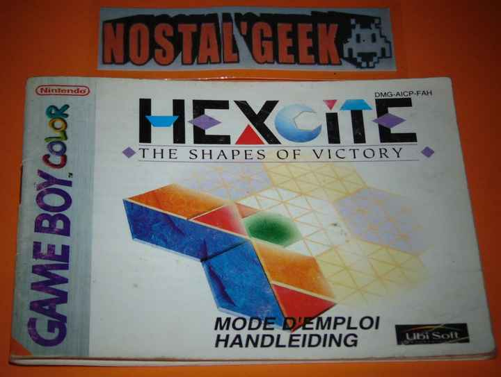 Hexcite The Shapes of Victory / Notice GBC / Pal. FAH