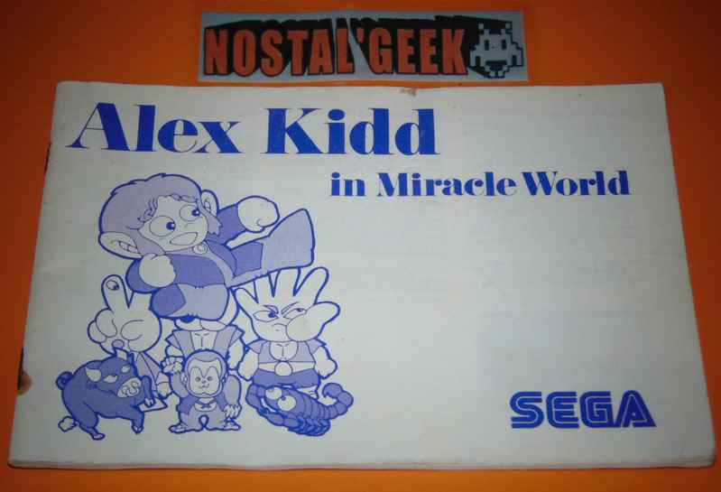 Alex Kidd in Miracle World / Notice SMS / Pal.