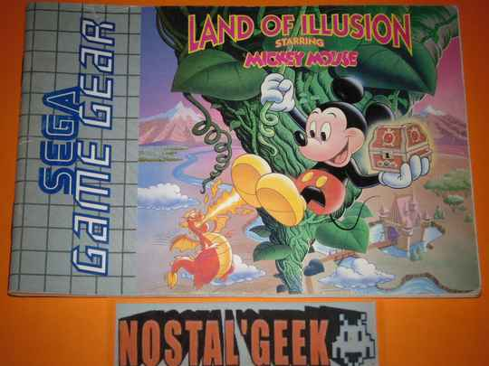 Land of Illusion Mickey Mouse / Notice GG / Pal.