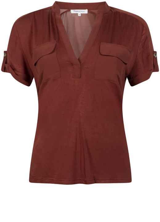 Tramontana | Top Chiffon Mix Cognac