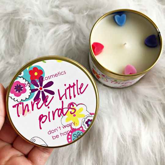 TINNED CANDLE - THREE LITTLE BIRDS