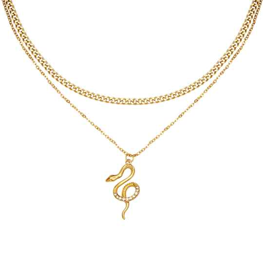 NECKLACE - CHAINED SNAKE