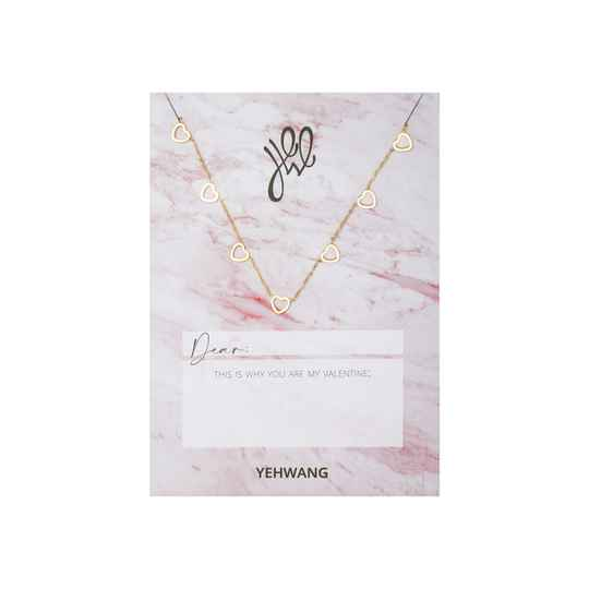 NECKLACE - LOVE OPEN HEARTS