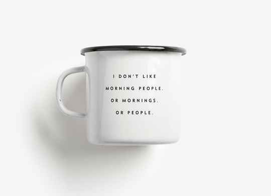 CUP - MORNING PEOPLE