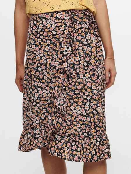 ONLY FUCHSIA B.K.WRAP SKIRT NOOS FLORAL 15226456 Nr. 767