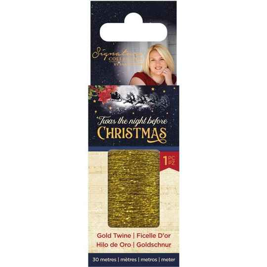 Crafter's Companion Twas the Night Before Christmas Gold Twine (S-TNBC-TWINE)