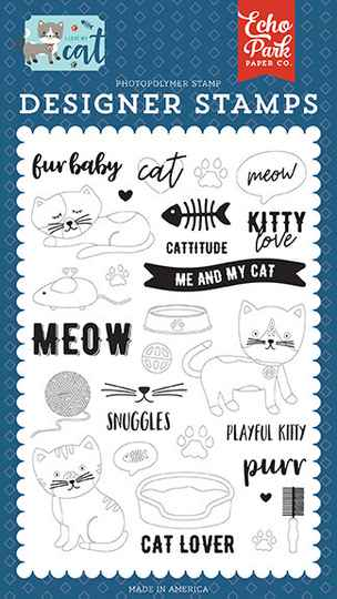 Echo Park Kitty Love Clear Stamps (LMC199040)