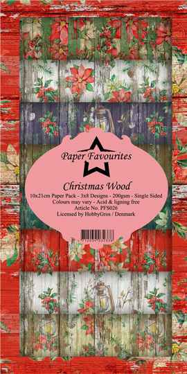 Paper Favourites Christmas Wood Slim Paper Pack (PFS026)
