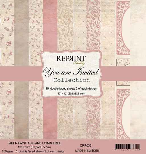 Reprint You are Invited Collection 12x12 Inch Paper Pack