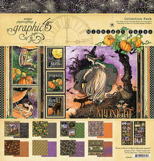 Graphic 45 Midnight Tales 12x12 Inch Collection Pack (4502283)