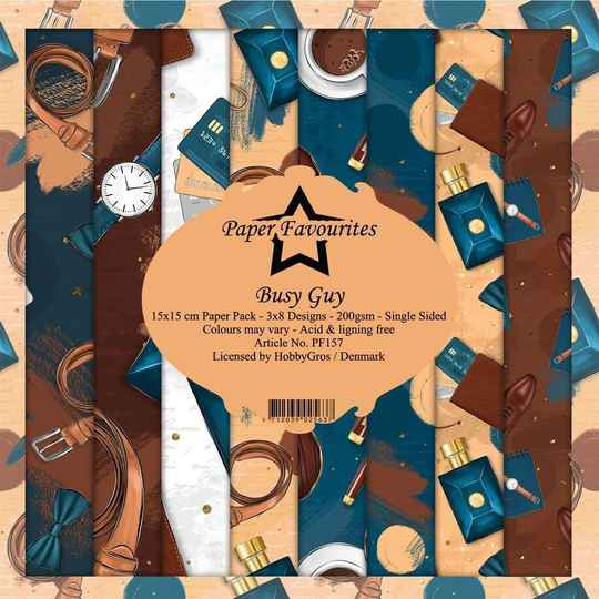 Paper Favourites Busy Guy 6x6 Inch Paper Pack