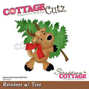 Scrapping Cottage Reindeer with Tree (CC-807)