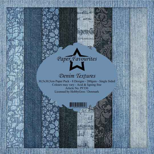 Paper Favourites Denim Textures 12x12 Inch Paper Pack (PF330)