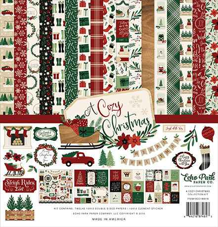 Echo Park A Cozy Christmas 12x12 Inch Collection Kit (ACC189016)