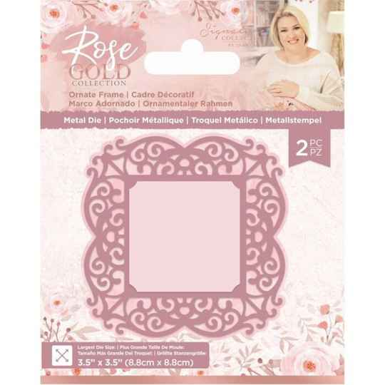 Crafter's Companion Rose Gold Ornate Frame Die (S-RG-MD-ORNF)  8,8 x 8,8 cm