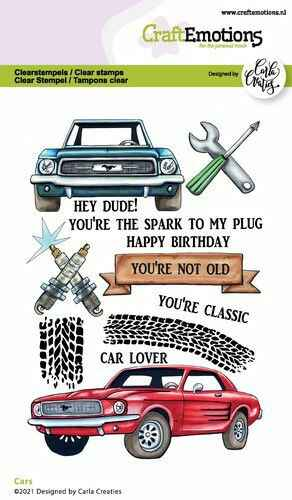 CraftEmotions clearstamps A6 - Cars Carla Creaties (06-21) Artikelnummer 130501/1512