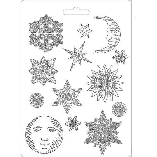 Stamperia Soft Mould A4 Snowflakes (K3PTA473)