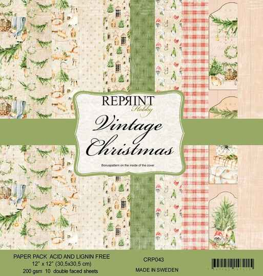 Reprint Vintage Christmas 12x12 Inch Paper Pack (CRP043)