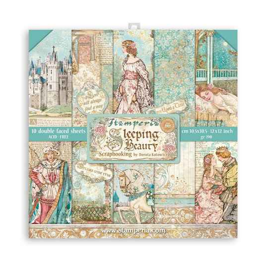 Stamperia Sleeping Beauty 12x12 Inch Paper Pack (SBBL89)