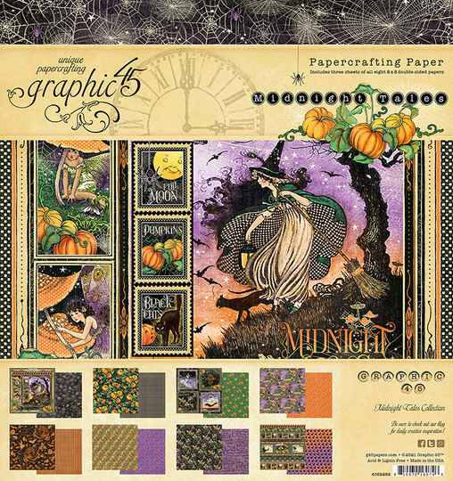 Graphic 45 Midnight Tales 8x8 Inch Paper Pad (4502282)