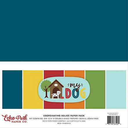 Echo Park My Dog 12x12 Inch Coordinating Solids Paper Pack (MD226015)