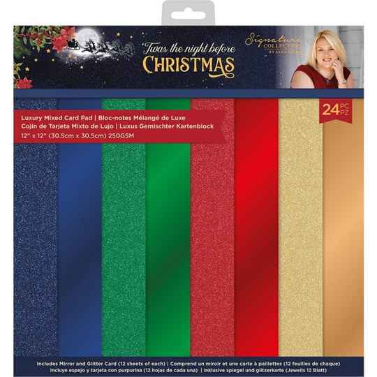 Crafter's Companion Twas the Night Before Christmas 12x12 Inch Luxury Mixed Card Pad (S-TNBC-LMIXPAD12)
