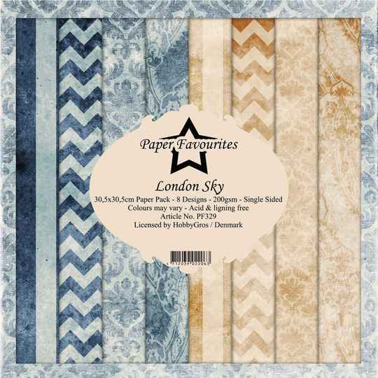 Paper FavouritesLondon Sky 12x12 Inch Paper Pack (PF329)
