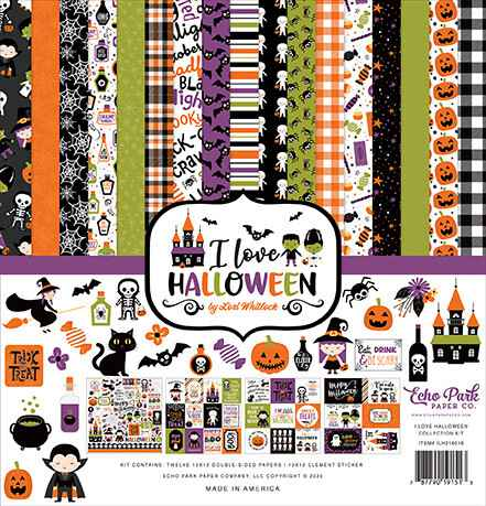 Echo Park I Love Halloween 12x12 Inch Collection Kit (ILH218016)