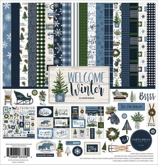 Carta Bella Welcome Winter Collection Kit (CBWW142016)