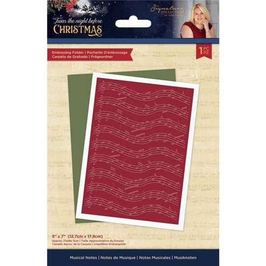 Crafter's Companion Twas the Night Before Christmas Embossing Folder Musical Notes (S-TNBC-EF5-MUNO)
