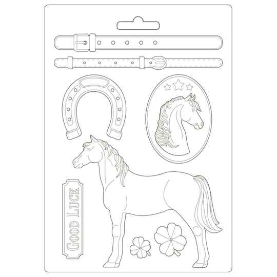 Stamperia Soft Mould A4 Romantic Horses Standing Horse (K3PTA4500)