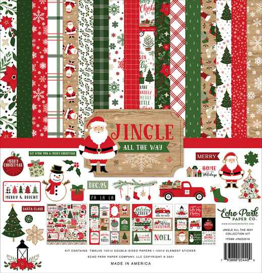 Echo Park Jingle All The Way 12x12 Inch Collection Kit (JIN252016)