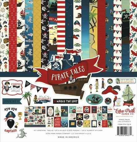 Echo Park Pirate Tales 12x12 Inch Collection Kit (PTA176016)