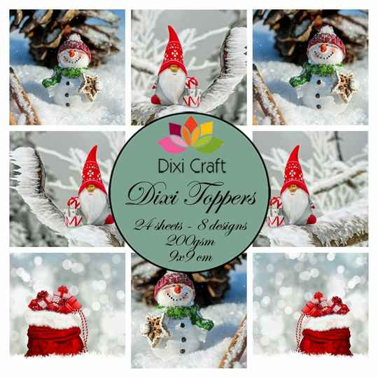 Dixi Craft Toppers Gnome & Snowman (ETL016)