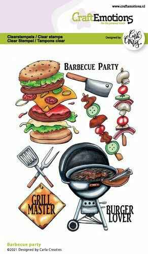 CraftEmotions clearstamps A6 - Barbecue party Carla Creaties (06-21) Artikelnummer 130501/1511