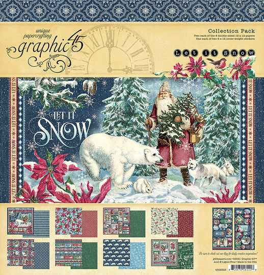 Graphic 45 Let it Snow 12x12 Inch Collection Pack (4502323)