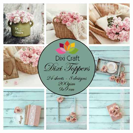 Plaatjes  Craft Dixi Toppers Shabby Chic 9x9cm (ET0323)
