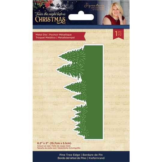 Crafter's Companion Twas the Night Before Christmas Metal Die Pine Tree Edge (S-TNBC-MD-PTEDG)