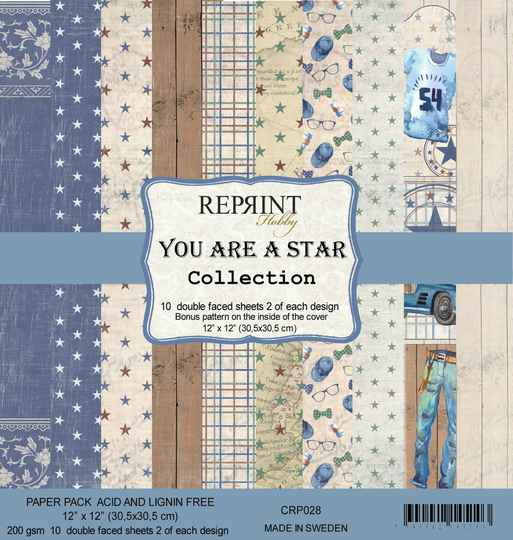 ReprintYou are a Star Collection 12x12 Inch Paper Pack (CRP028)