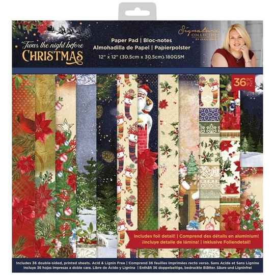Crafter's Companion Twas the Night Before Christmas 12x12 Inch Paper Pad (S-TNBC-PAD12)