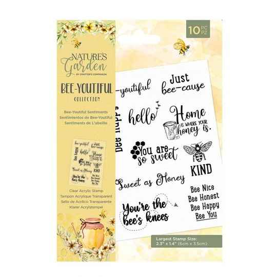Crafter's Companion Bee-Youtiful Collection Clear Stamp Bee-Youtiful Sentiments (NG-BEY-ST-CA-BESE)