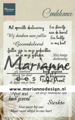 Marianne D Clear Stamps Condoleance (NL)