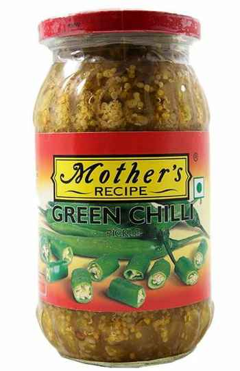 Mother's green chilli pickles 500g