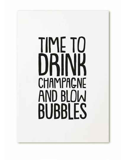 Kaart Time to drink champagne